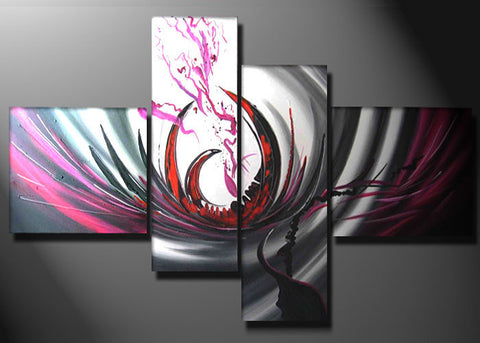 Abstract Modern Oil Art 342 - - 63x33,5in