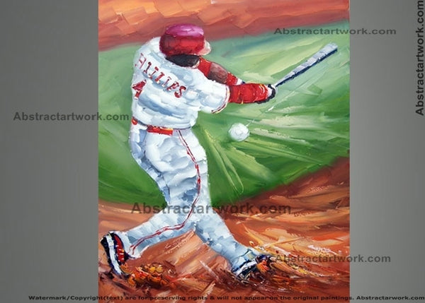 Baseball Sport Painting 30x40in