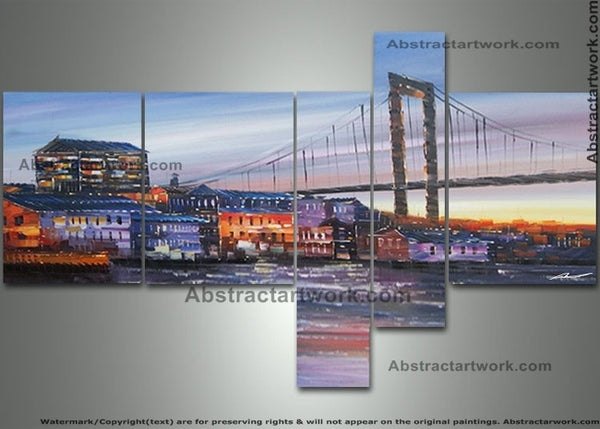 Multipanel Cityscape Art Sweden 342 - 48x24in