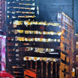 Night City Art Painting Australia 80x32in