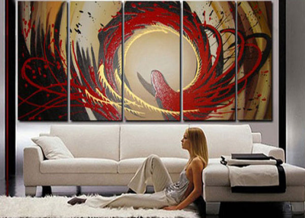 Custom Size Multi Panels Paintings 140x48in