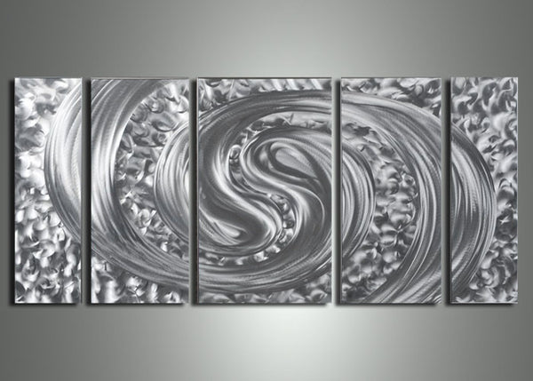 Silver Metal Wall Art Painting - 56x24