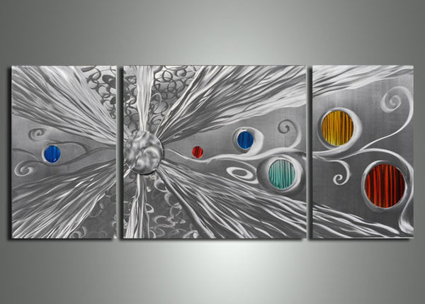 Modern Metal Wall Art Painting 60x24in