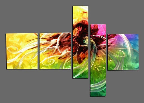 Metal Wall Art Painting - Yellow 605 66x36in