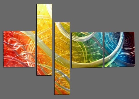 Multi Panels Metal Art 606 66x36in