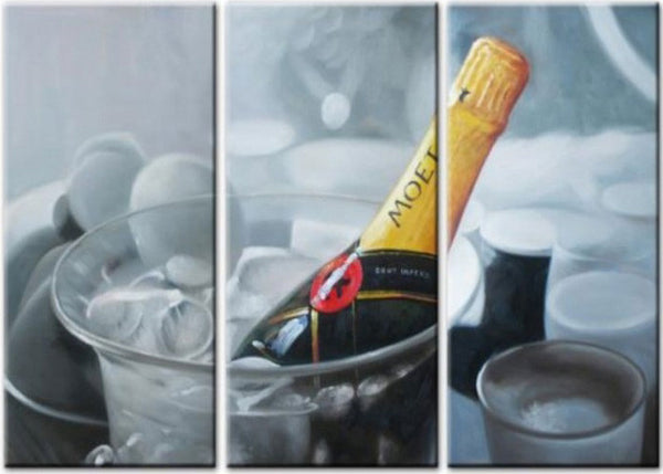 Champagne Painting 999- 36x28in