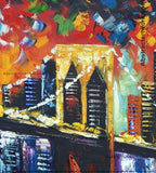 New York City Knife Art Painting 63x32in