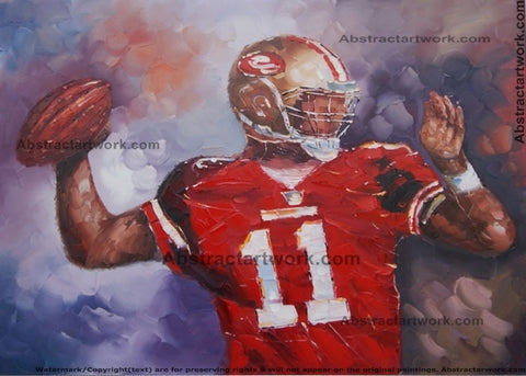 National Football Oil Painting 40x30in