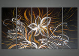Modern Black Flowers Oil Painting 1022 - 60x32in