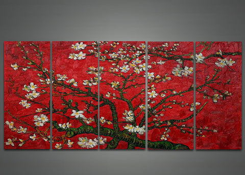 Van Gogh Almond Tree Oil Painting with Flowers - 60x28in