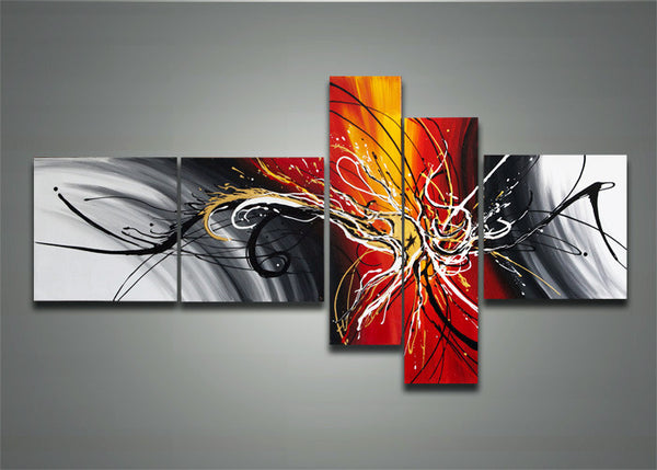 Contemporary Modern Abstract Art 1164 - 66x32in