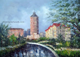 San Antonio Cityscape Painting 40x30in