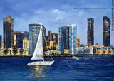 San Diego Boat Painting 40x30in