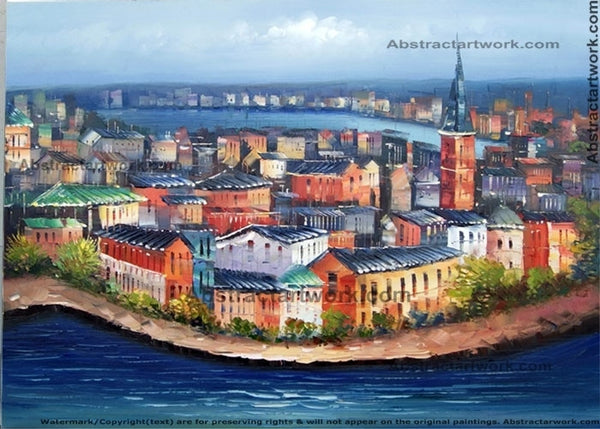 Stockholm Sweden Cityscape 40x30in