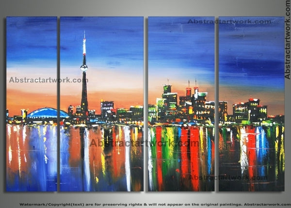 Toronto Knife Art Painting 80x32 in