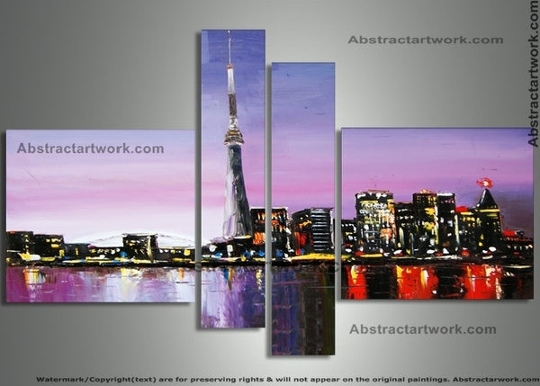 Toronto Cityscape Wall Art - 64 x 33in