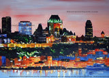 Quebec City Art Painting - 40x30in