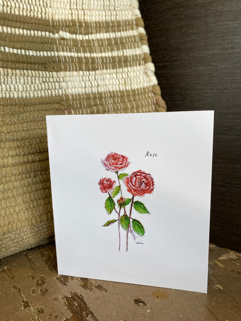 Rose Blank Greeting Card
