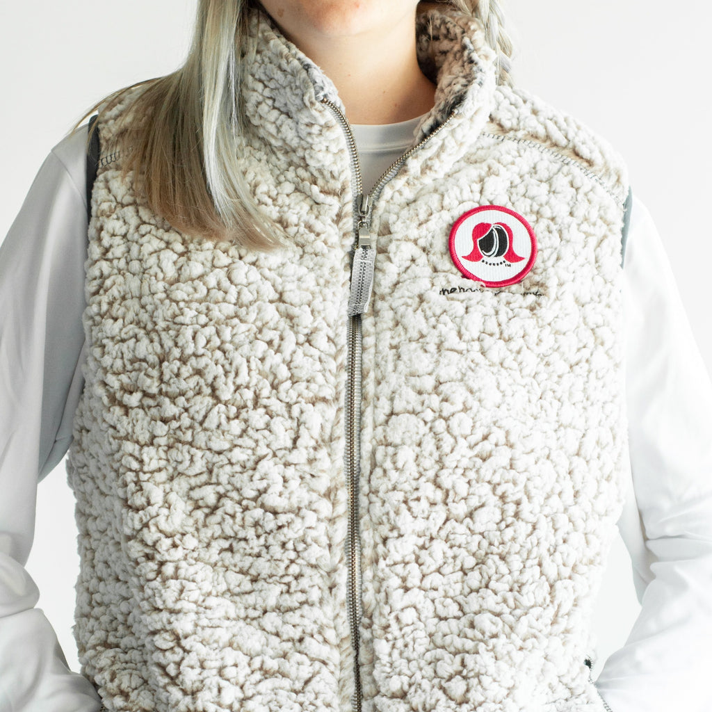 The Hockey Mommy Sherpa Full-Zip Vest