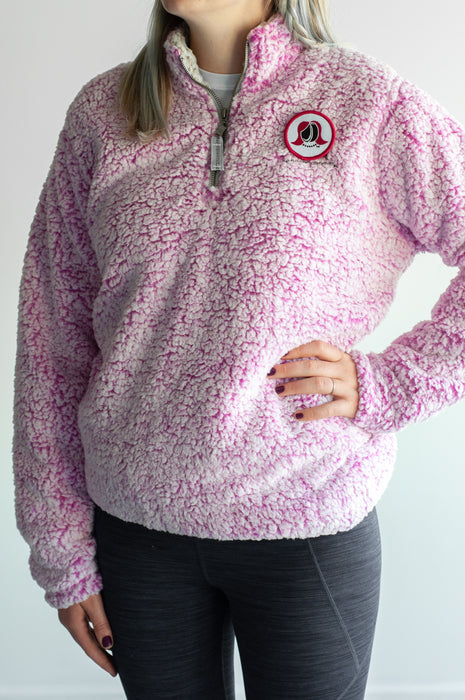 The Hockey Mommy Sherpa Quarter-Zip Pullover
