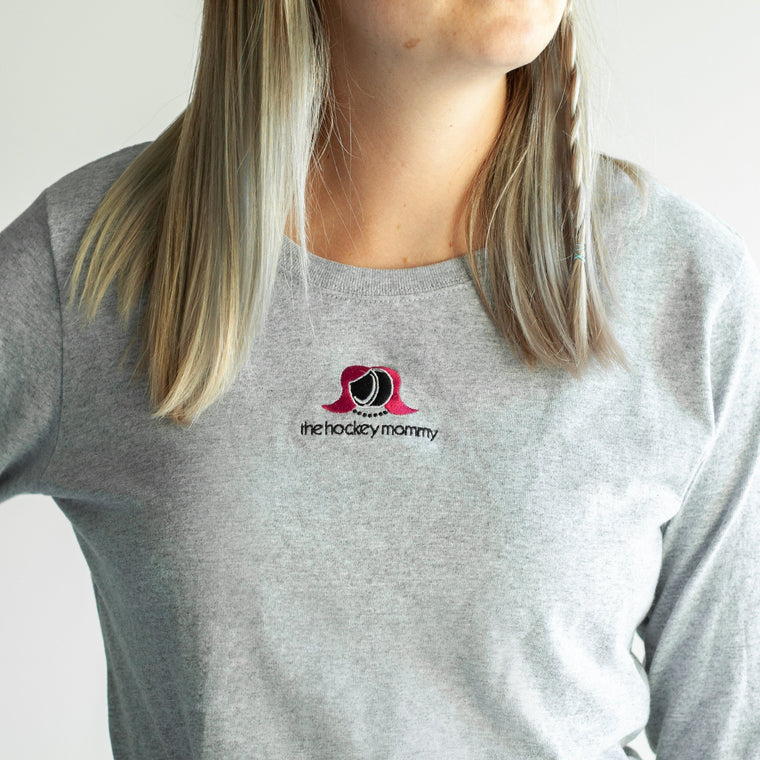 The Hockey Mommy Long Sleeve Tee
