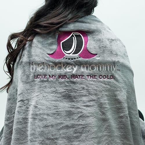 The Hockey Mommy Flannel Fleece Blanket