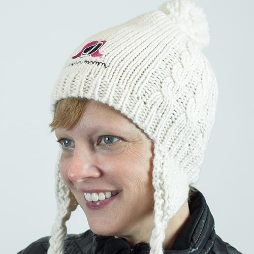 The Hockey Mommy Pom Hat