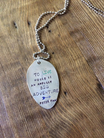 Big Adventure Hand Stamped Necklace - The Dove Cote