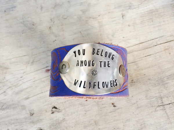 Wildflowers Lavender Cuff - The Dove Cote