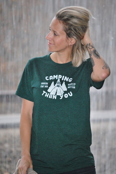 The Great Outdoors Camping Smells Emerald Green T-Shirt