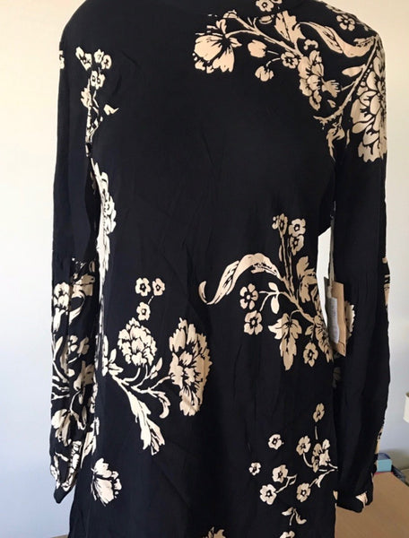 Black Floral Knot Sister Tunic