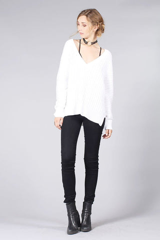 Knot Sisters Everyday Sweater in Cream - The Dove Cote