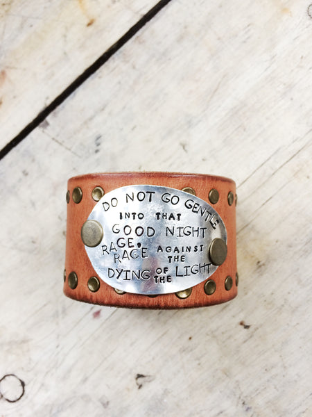 Rage Against the Light Leather Cuff - The Dove Cote