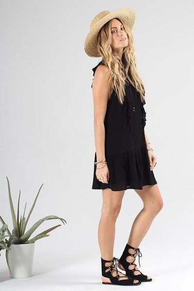 Knot Sisters Lovers Dress in Black - The Dove Cote