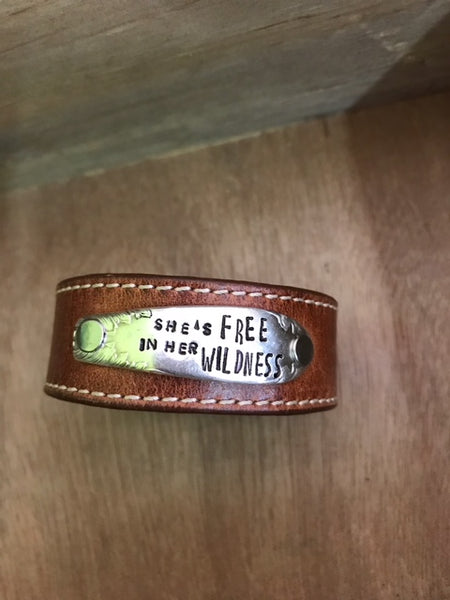 Skinnies Her Wildness Brown Skinnies Leather Cuff