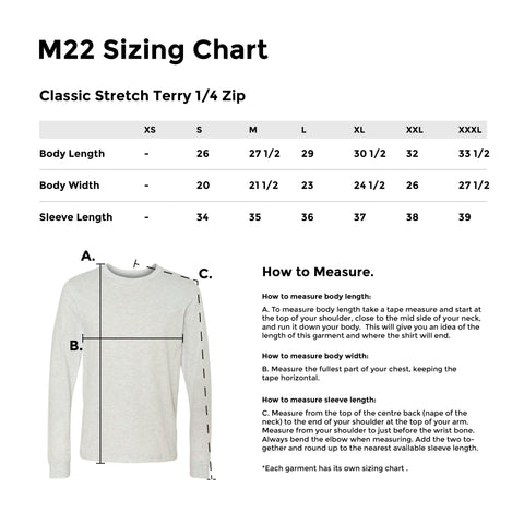 CLASSIC STRETCH TERRY 1/4 ZIP