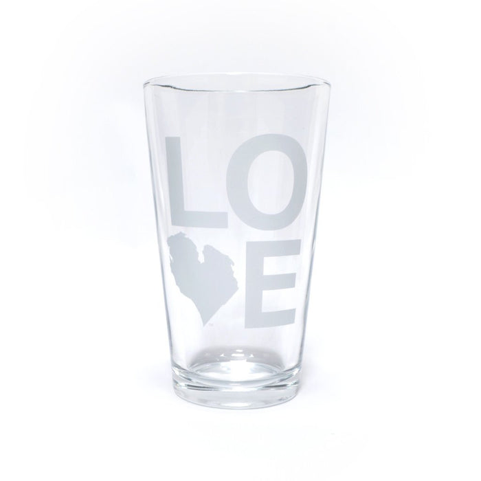 LOVE PINT GLASS SET OF FOUR