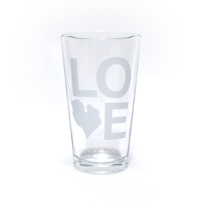 LOVE PINT GLASS