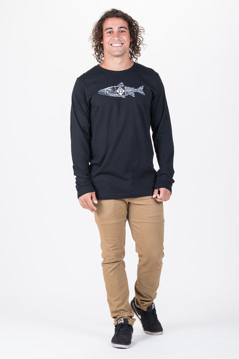 FISH LINE-ART LONG SLEEVE