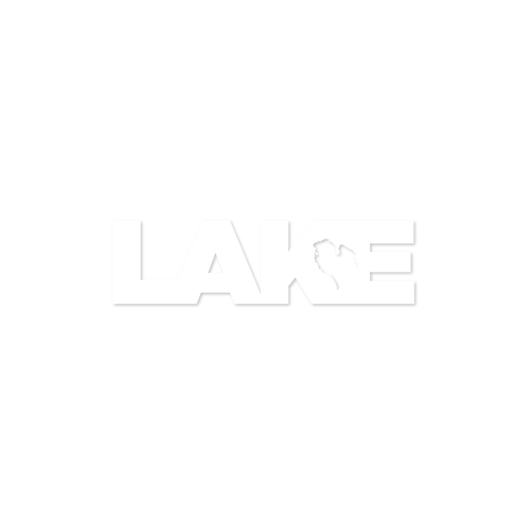 LAKE LOVE DIE CUT STICKER