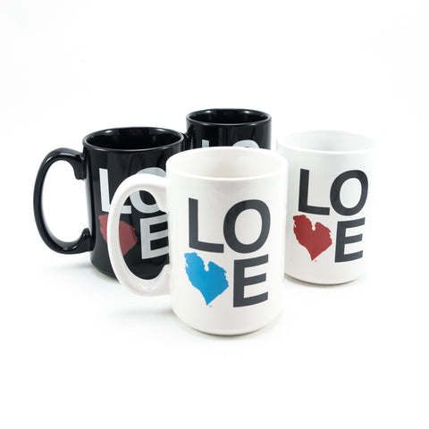 LOVE CERAMIC MUG SET OF FOUR