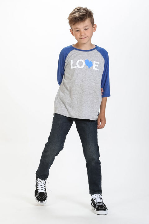 LOVE BASEBALL T-SHIRT YOUTH