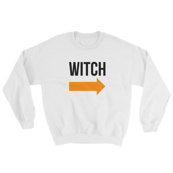 I'm With the Witch - Halloween Costumes Sweatshirt - Scary Funny (light colors)