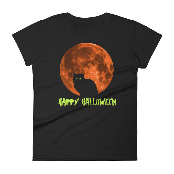 Happy Halloween Cat – Women's Costumes T-Shirt - Funny Scary Cats Tee