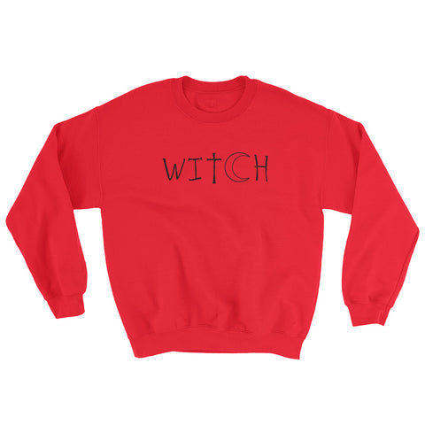 Witch - Halloween Costumes Sweatshirt - Scary Funny (light colors)