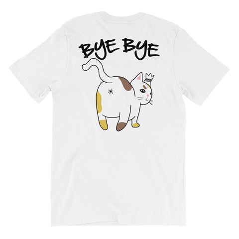 Hello Bye Bye Cat - Front/Back Printed Men's T-Shirt - Funny Cats Tee