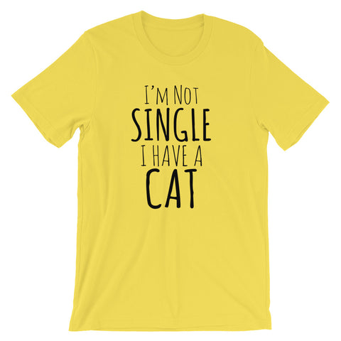 Not Single Have Cat -  Men's T-Shirt -  Funny Cats Tee (light colors)
