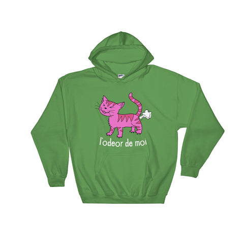 L'odeor de moi -  Funny Cat Hoodie - Fashion Cats (dark colors)