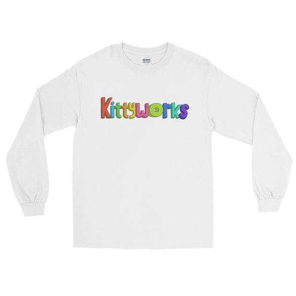 Kittyworks Logo - Long Sleeve Cat T-Shirt - Casual Cats Tee
