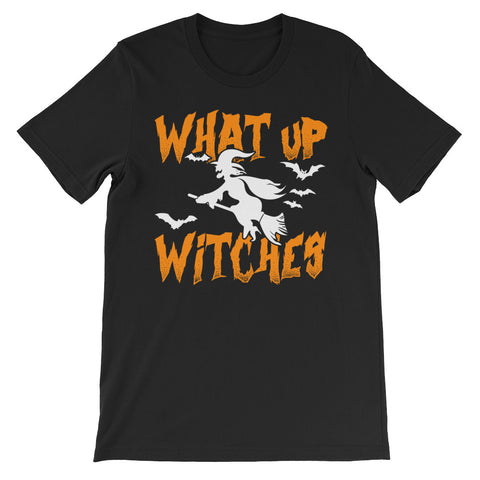 What Up Witches - Halloween Costumes Men's T-Shirt - Scary Funny Tee